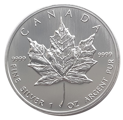 1 Oz Silber Maple Leaf 2004 Canada 5 Dollars Anlagemünze