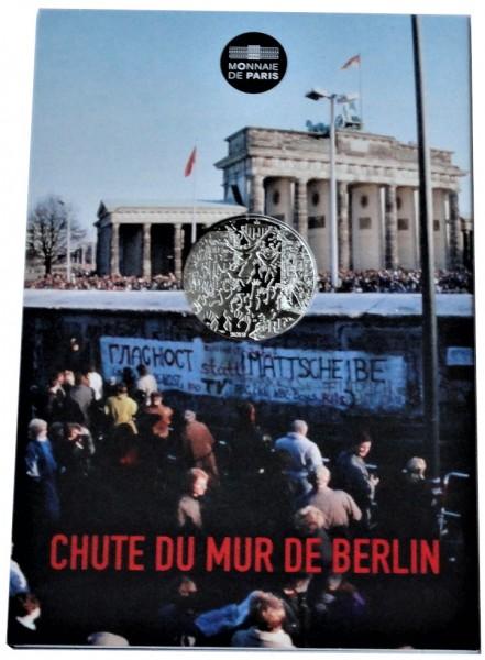 Frankreich 10 Euro Silbermünze Berliner Mauerfall 2019 im Blister