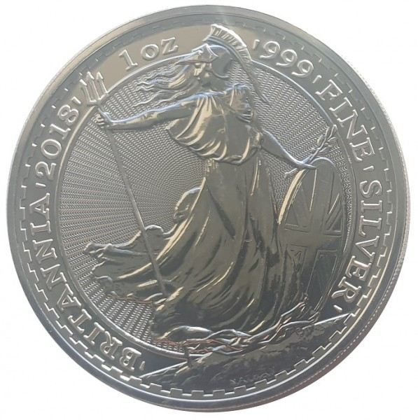 1 Oz Silber Britannia 2018 Großbritannien 2 Pounds