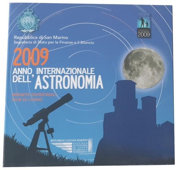 KMS San Marino 2009 mit 5 Euro Silbermünze Internationales Jahr der Astronomie