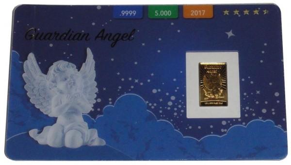 Salomonen 10 Dollars 0,5 gr Goldbarren Guardian Angel 2017 Prooflike