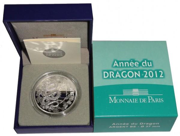 Frankreich 10 Euro Silbermünze Drache 2012 Proof - Finish im Etui
