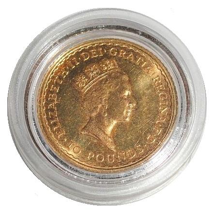 Großbritannien 10 Pounds Goldmünze 110 Oz Gold Britannia 1988
