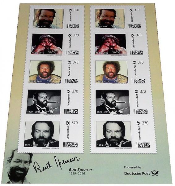 Bud Spencer Briefmarken 10 x 3,70 Euro Briefmarkenbogen Limited Edition nur 10.000 Stück !