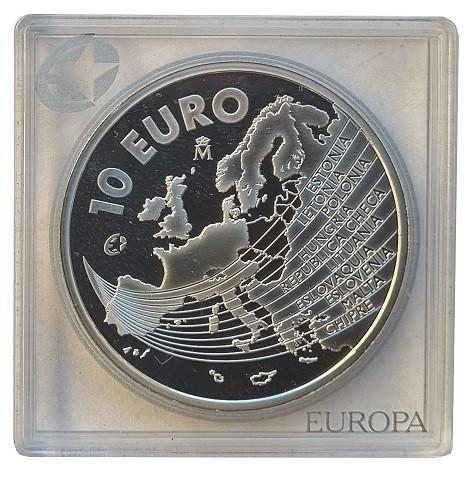 Spanien: 10 Euro Silber EU - Erweiterung 2004 Polierte Platte