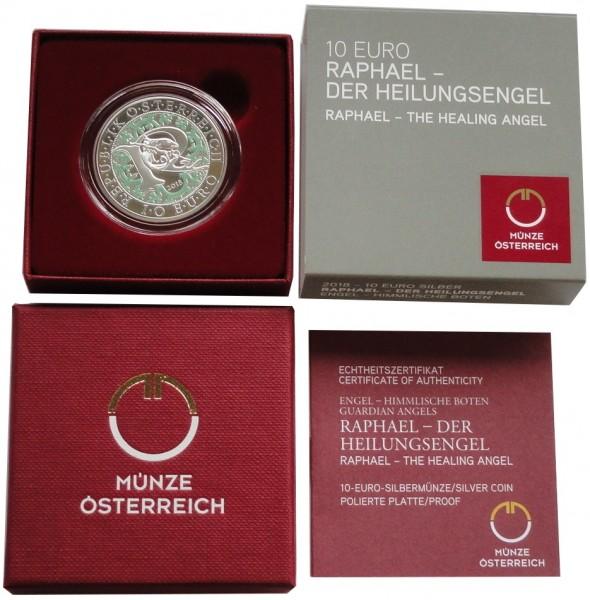 österreich 10 Euro Silber Raphael Der Heilungsengel 2018 Polierte