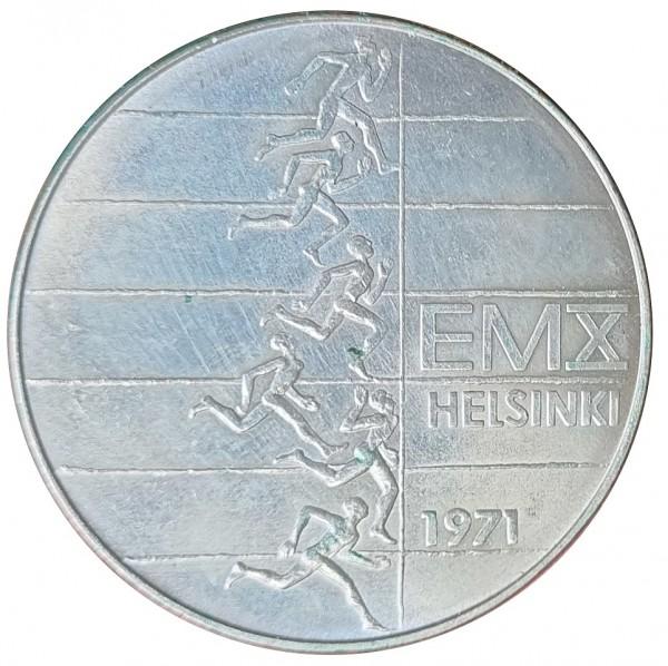 Finnland 10 Markkaa Silber Leichtathletik EM Helsinki 1971