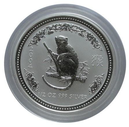 Australien 1/2 Oz Silber Lunar Serie I Affe 2004