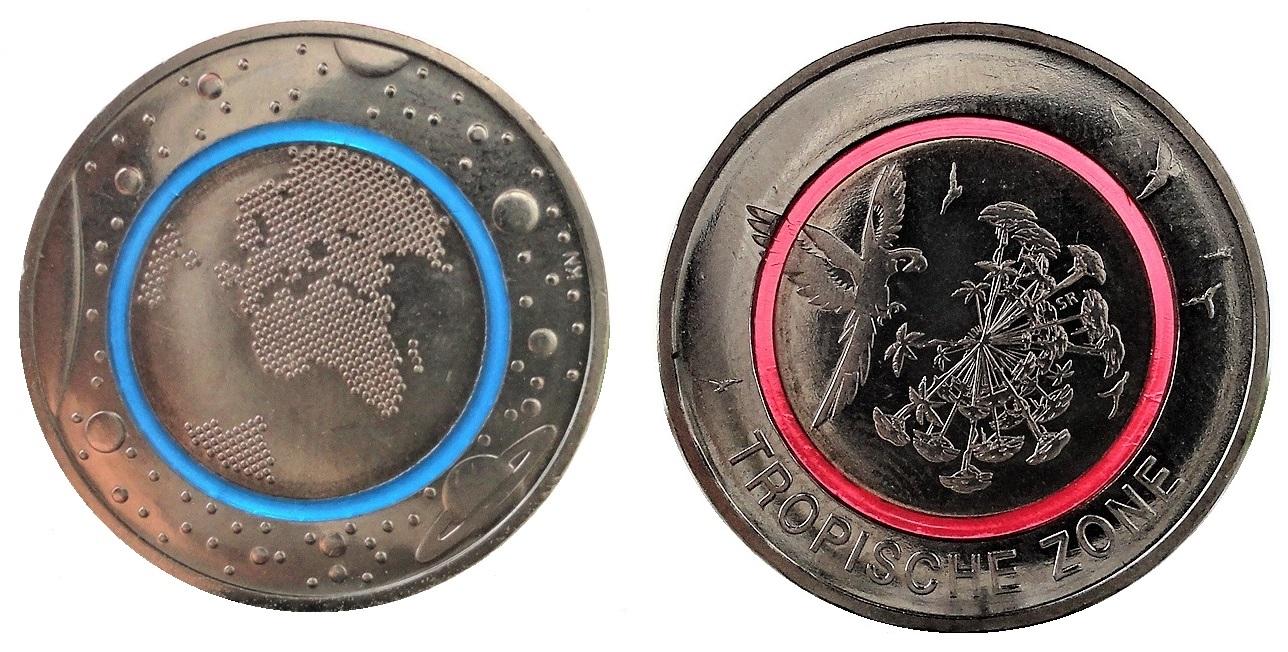 Brd 5 Euro Bimetall Blauer Planet Erde 2016 U 5 Euro Tropische