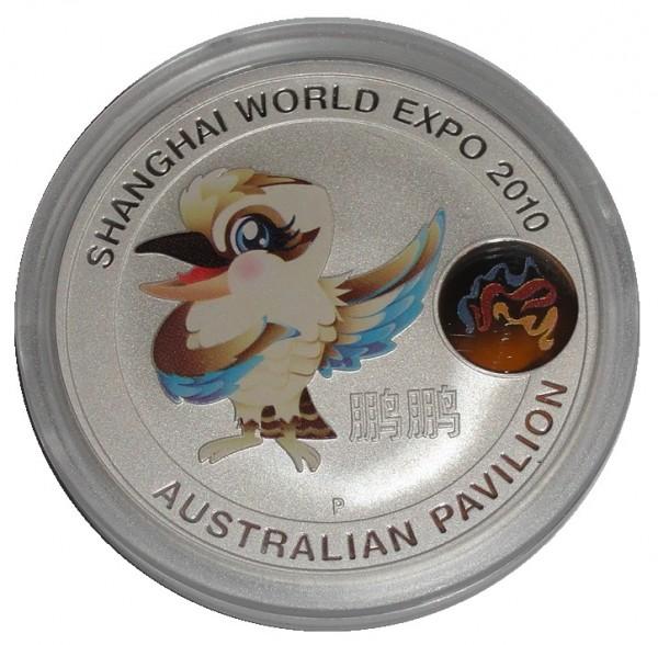 Australien 1 Oz Silber Kookaburra Maskotchen Shanghai World Expo 2010