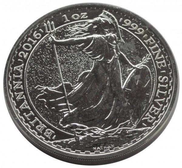 Großbritannien 2 Pounds 1 Oz Silber Britannia 2016
