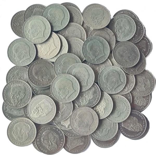146 DM Umlaufmünzen 73 x 2 Mark
