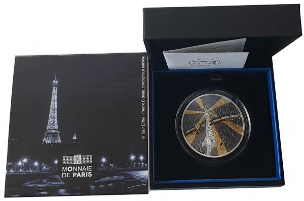 10 Euro Eiffelturm Frankreich Silbermünze 2019 Polierte Platte im Etui