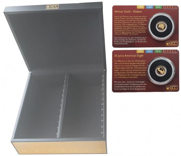 Original GCC Aufbewahrungsbox für Gold Coin Cards. Lieferung ohne Blister und Münzen
