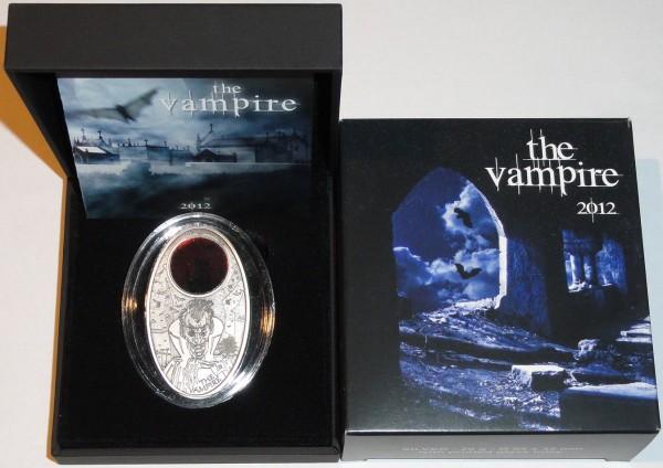 Fiji 10 Dollars Silbermünze Vampir 2012 Etui