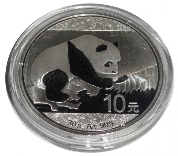 China 10 Yuan 30 gr 999/1000 Silber Panda 2016