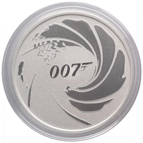 Tuvalu 1 Oz Silber James Bond 007 - Stempelglanz 2020 in Münzkapsel