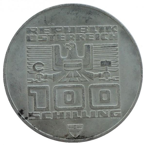 Österreich 100 Schilling Münze Stempelglanz 1974 - 1979