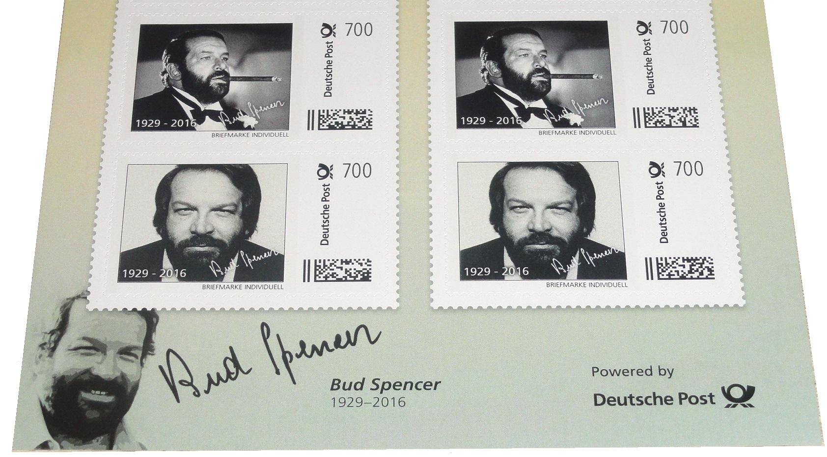 Bud Spencer Briefmarken 10 X 7 Euro Briefmarkenbogen Limited Edition