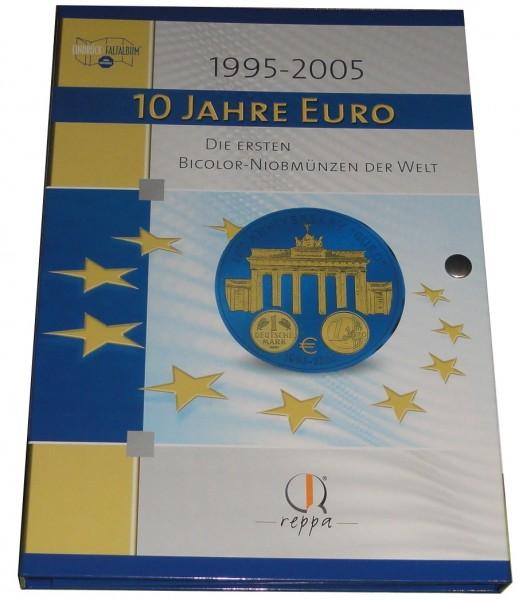 Sammelalbum + 2 x Bicolor Niobmünzen Vatikan und Deutschland