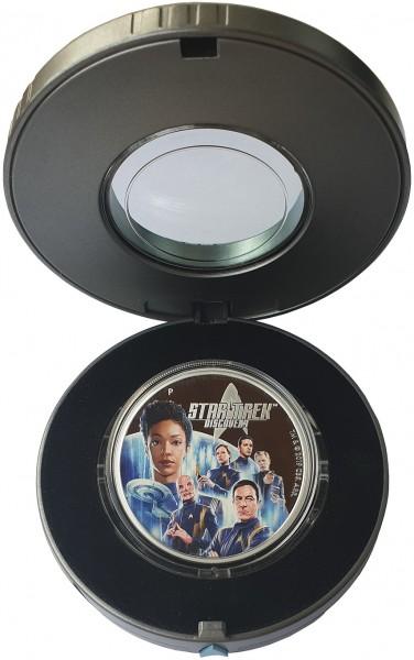 2 Oz Silber Star Trek - Discovery Crew 2019 PP - Tuvalu 2 Dollars Silbermünze