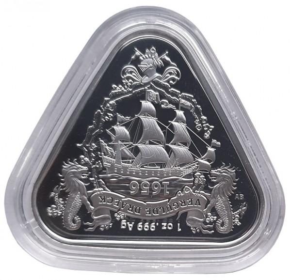 1 Oz Silber Gilt Dragon Schiffswrack Serie - zweite Dreieckige Anlagemünze aus Australien