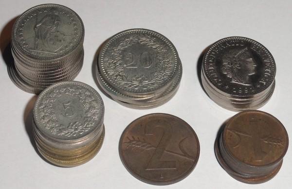 Lot Schweizer Franken