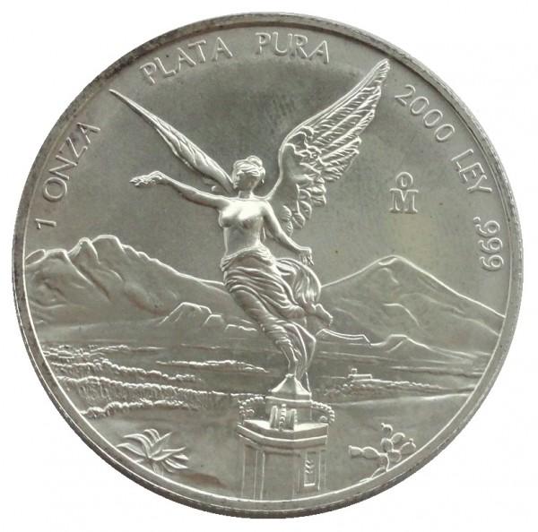 Mexico 1 Oz Silber Libertad - Siegesgöttin 2000