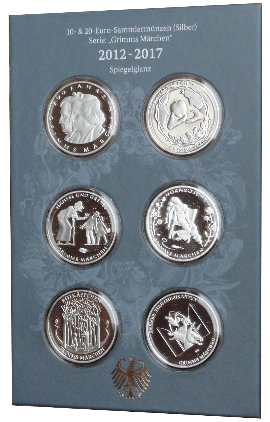 Münzsammelbuch Der Gebrüder Grimm 20 Euro 10 Euro Silber