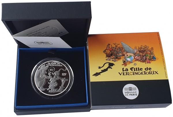 10 Euro Silber Asterix - Vercingetorix Frankreich 2019 Polierte Platte im Etui