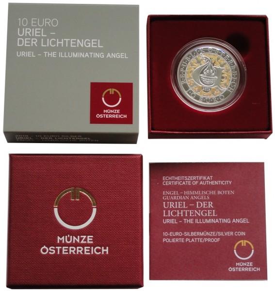 Österreich 10 Euro Silber Uriel - Der Lichtengel 2018 Polierte Platte