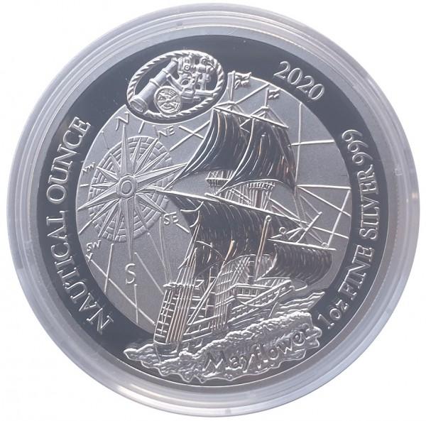 Ruanda 1 Oz Silber Mayflower 2020 PP mit Zertifikat