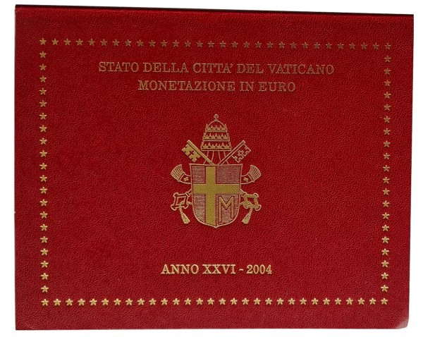 Vatikan 3,88 Euro 2004 Stgl. KMS Papst Johannes Paul II im Folder
