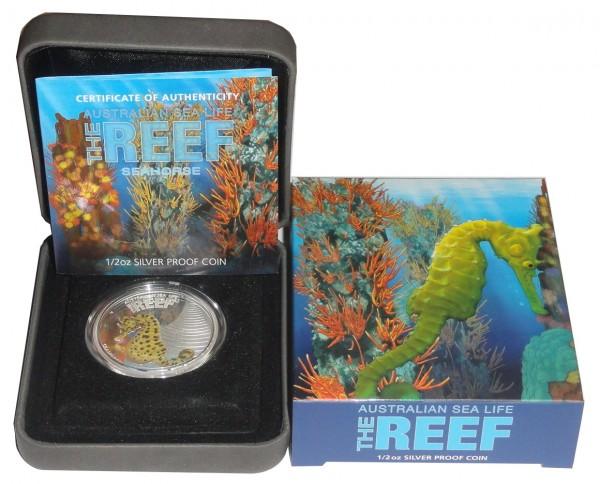 Australien 1/2 Oz Silber Seepferdchen (Seahorse) 2010 Polierte Platte Sea Life Serie