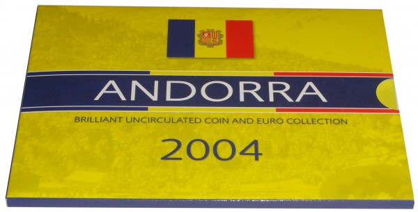 Andorra Euro - Centime Kursmünzensatz 2004 im Folder