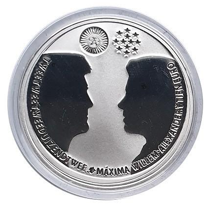 Niederlande 10 Euro Silber Willem u. Maxima Hochzeit 2002 Prooflike in Münzkapsel