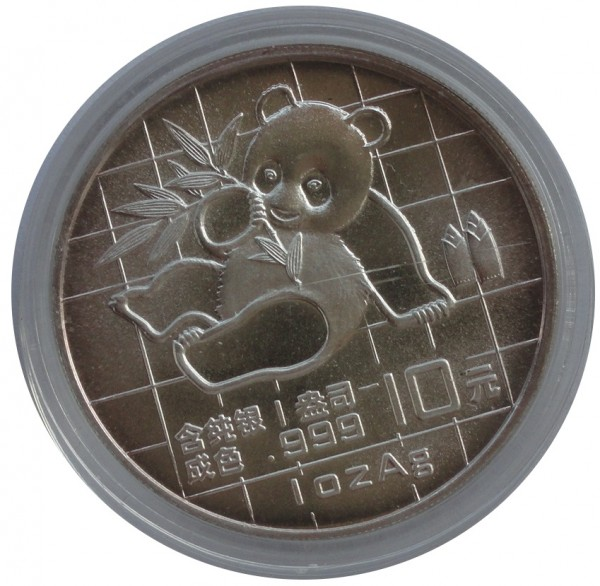 China 10 Yuan 1 Oz Silber Panda 1989