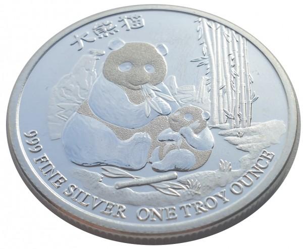 1 Oz Silber Panda 2017 - Niue Anlagemünze