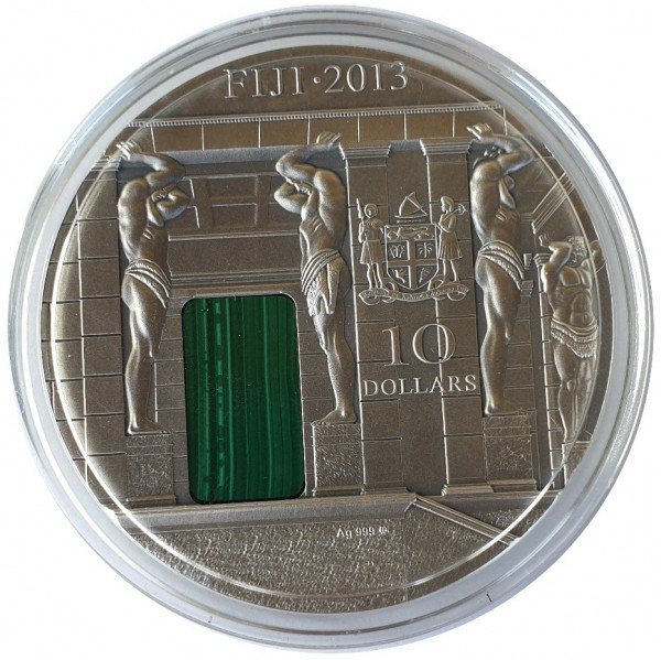 3 Oz Silber Fiji Malachit-Zimmer ( Malachite Room ) Antik Finish 2013