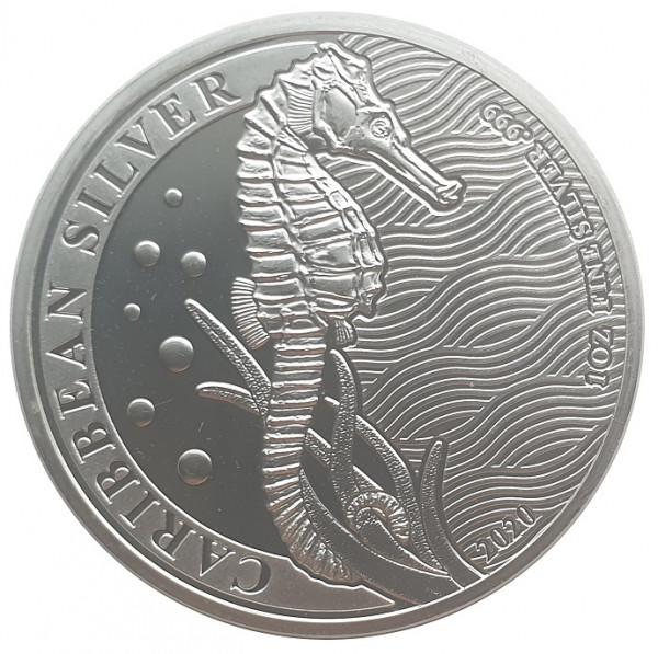 1 Oz Silber Seepferdchen 2020 - Anlagemünze aus Barbados
