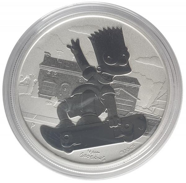 1 Unze Silber Bart Simpson 2020 BU Tuvalu Bullionmünze - Anlagemünze
