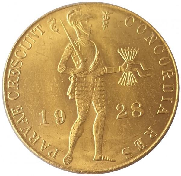 1 Dukat - Goldmünze Niederlande 1928 Golddukat Utrecht - Handelsdukat