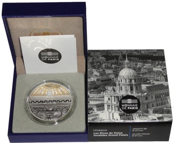 Frankreich 10 Euro Silbermünze Ufer der Seine 2015 PP im Etui