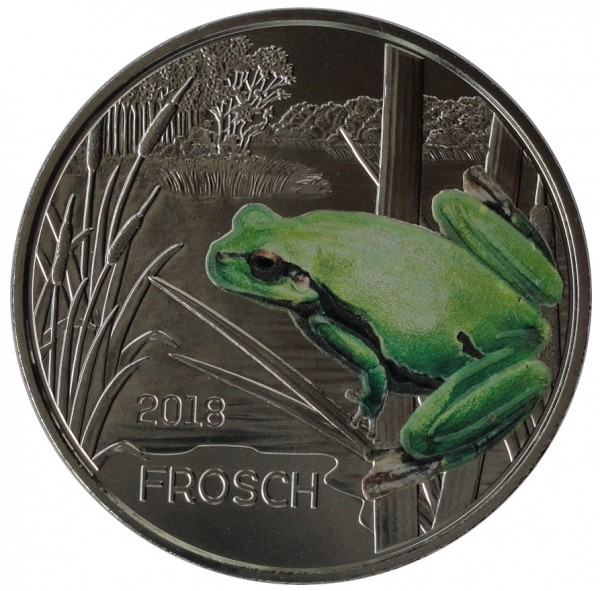Österreich 3 Euro Tier Taler Frosch 2018 mit Flyer