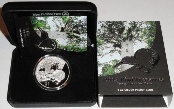 Neuseeland 1 Oz Silber Silber Kiwi 2013 PP Etui