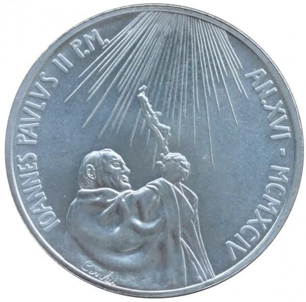Vatikan 500 Lire Silbermünze Papst Johannes Paul II 1994 Veritatis Splendor