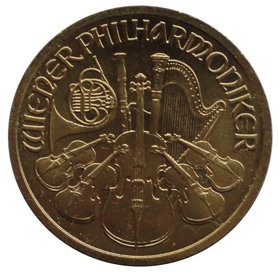 Österreich 10 Euro Goldmünze Wiener Philharmoniker 1/10 Oz Gold 2002