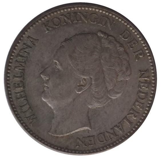 Niederlande 1 Gulden Silber Königin Wilhelmina 10 gr 720/1000 Silber