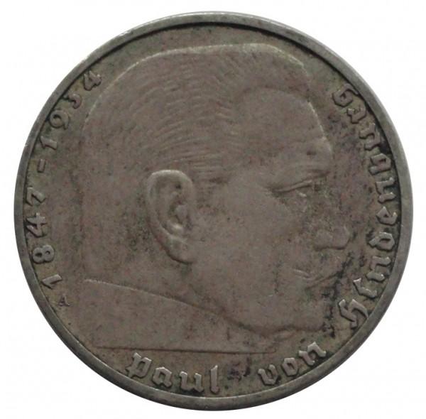 Deutsches Reich 2 Reichsmark Silber Paul von Hindenburg