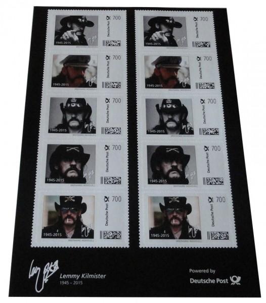 Lemmy Kilmister - Motörhead 10er Set Briefmarken a 7 Euro